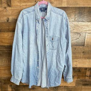 Ralph Lauren Polo Vintage Button Up Denim Shirt